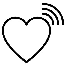 Wifi With Heart, Concept Of Love Signals Icon