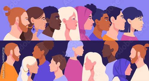 Fotografie, Obraz Racial diversity and anti-racism concept