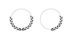 Wreath Laurel Icon Vector, Success Flat Design Illustration Template