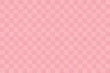 日本の伝統的な和紙。 シームレスな市松模様のピンクの背景。