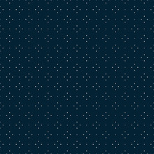 Universal Vector Seamless Pattern. Simple Minimalist Geometric Texture. Abstract Dark Blue Minimal Background With Small Floral Shapes, Tiny Dots. Subtle Dark Repeat Design For Decor, Print, Cover