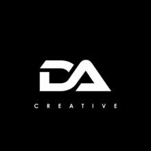 DA Letter Initial Logo Design Template Vector Illustration