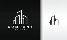 Minimal Outline City Building Logo