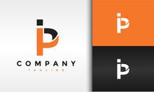 Monogram Letter IP Logo