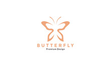 Unique Shape Butterfly Line Modern Logo Symbol Icon Vector Graphic Design Illustration
