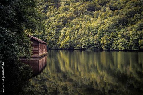 boathouse on the lake Fototapete