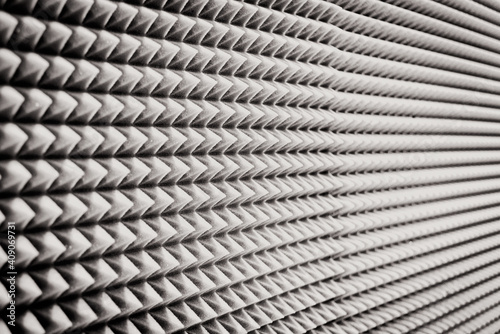 Fotografia, Obraz close up Sound Absorption, noise reduction texture in recorder room ,with light