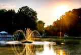 Fototapeta Tęcza - fountain