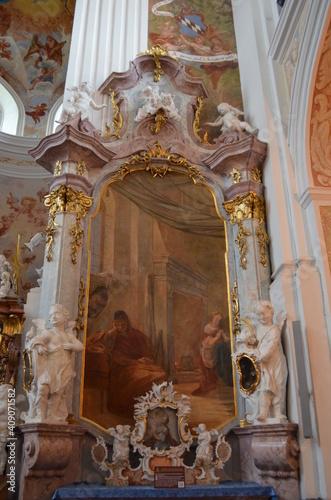 Fototapeta Wnętrze kościoła św. Józefa w Krzeszowie, Polska obraz