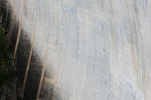 Close-up Detail Of Emosson Hydroelectric Dam Concrete Wall