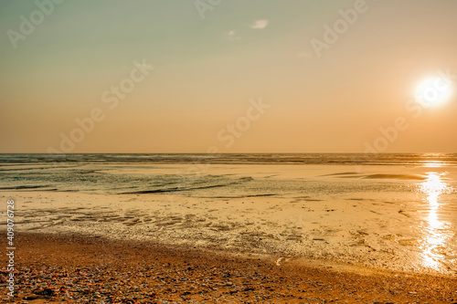 Fototapety, obrazy: Sunset on beach of Atlantic Ocean