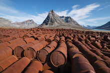 Piles Of Rusting Fuel Drums Of Abandoned US WW2 Base Bluie East Two, Ikateq, Greenland