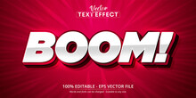 Boom Text, Cartoon Style Editable Text Effect