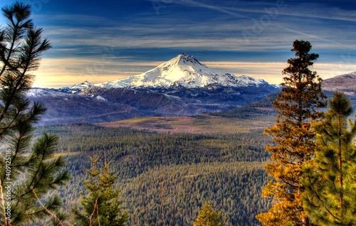 Fotografie, Obraz View of Mt Jefferson in the cascades near Sisters in central Oregon