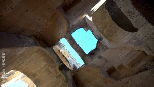 Obraz na plátně View inside the ruins of the amphitheater