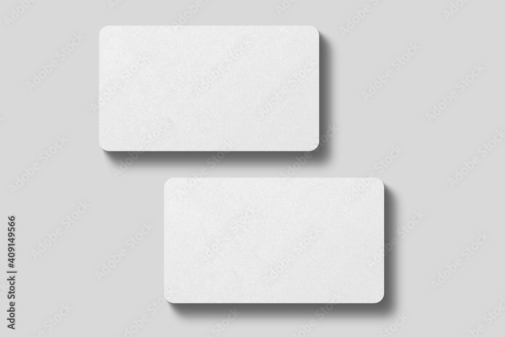 Fototapeta Realistic blank rounded corner business card illustration for mockup