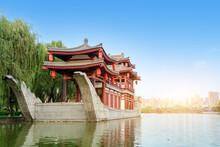Datang Furong Garden Dragon Boat, Xi'an, China.