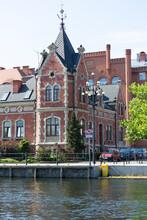 Historic Lloyd Palace On The Brda River, Bydgoszcz, Poland