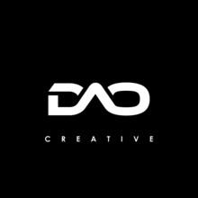 DAO Letter Initial Logo Design Template Vector Illustration