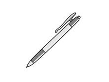 文房具のボールペンのイラスト
