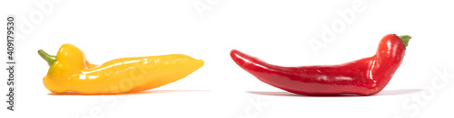 Papel de parede Red and yellow sweet pointed peppers