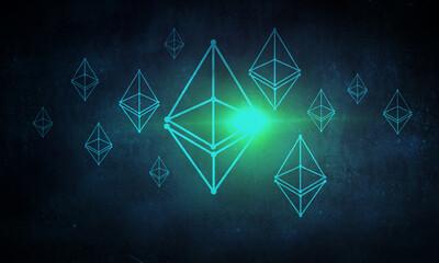 Image of pyramid against black background