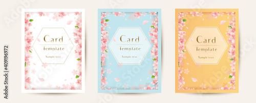 花のカードセット,Set of floral  elegant  templates Fotobehang