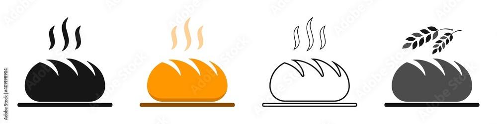 Fotografie, Obraz Freshly baked bread vector set