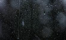 Rain Drops On The Window Surface