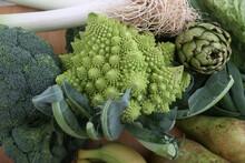 Romanesque Cauliflower Green Vegetable As Vegan Ingredient