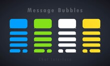 Message Bubbles Design Template For Messenger Chat Or Website. Chat Interface Concept. Vector On Isolated Background. EPS 10