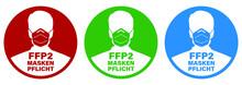 Corona Virus FFP2 Masken Pflicht