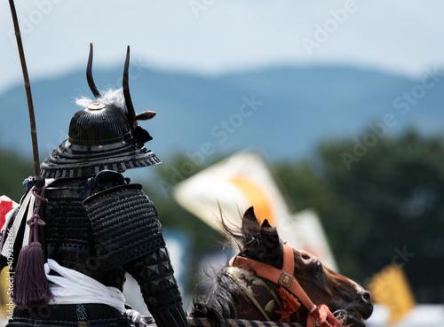 Foto 鎧姿の騎馬武者