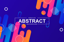 Stock Vector Abstract Geometric Coloful Backround. Trendy Gradient Shapes Composition.