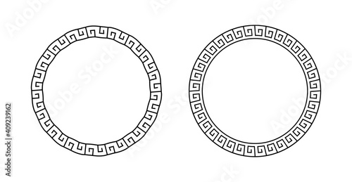 Fotografie, Obraz Set greek circle frame
