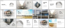 Presentation Design Vector Templates, Multipurpose Template For Presentation Slide, Flyer, Brochure Cover Design, Infographic Report Presentation. Corporate Business Concept With Abstract Ackgrounds.
