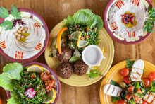 Colorful Moroccan Food Flay  5 Dishes
