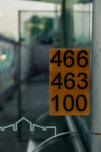 Bus Station With Routes Numbers In Tel Aviv