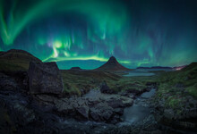 Auroras Over Magic Hat In Iceland