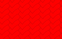 Scales In The Form Of Red, Beautiful, Overlapping Hearts, Background, Seamless Texture, Illustration. Pattern.