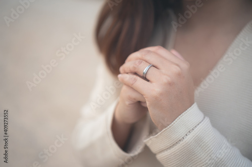 Valokuva Christian life crisis prayer to god