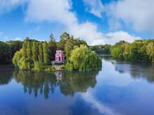 Island Of Love Sofia Park, Gazebo On The Island. Uman, Ukraine