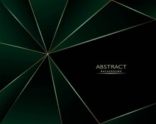 Abstract Gold Triangles Background And Luxury Design