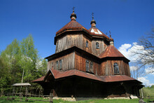 Church Of St. Michael The Archangel In Bystre, Bieszczady Mountains, Poland