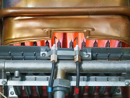 Photo Working heat exchanger of a gas water heater