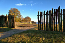 Opening In The Stockade Fence In Jamestown Colony