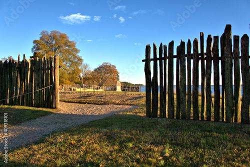 Photo Opening in the stockade fence in Jamestown Colony