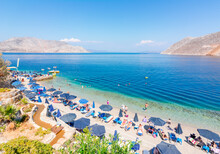 Nos Beach On Symi Island, Greece