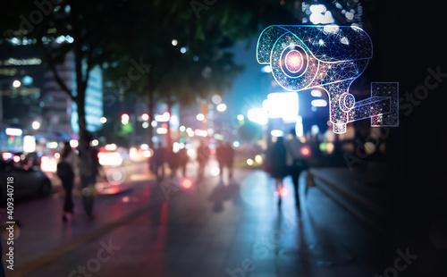 Fotografie, Tablou Security technology concept