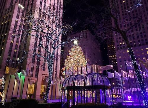 Fotografie, Obraz Christmas Rockefeller Center